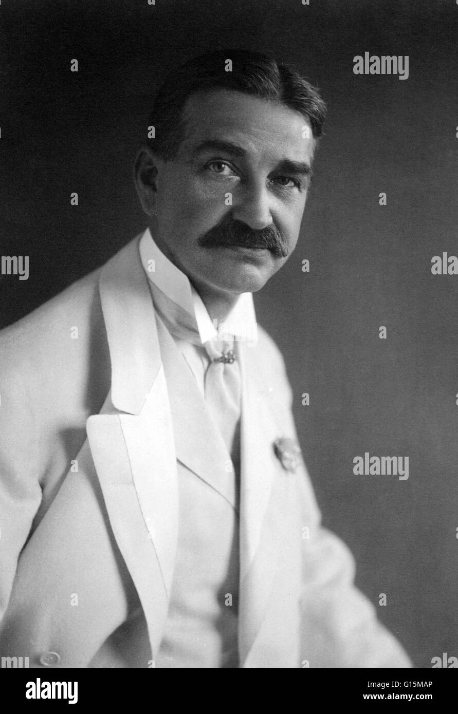 Lyman Frank Baum (1856-1919) was an American author of children's books, best known for writing The Wonderful - Stock Image