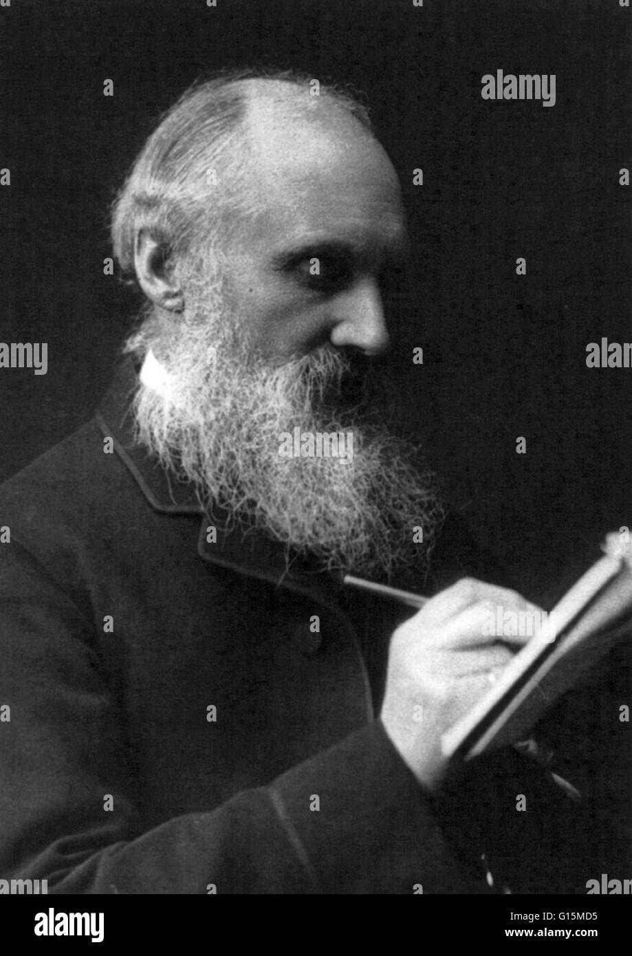 William Thomson, Lord Kelvin (June 26, 1824 - December 17, 1907) was a mathematical physicist and engineer. He did - Stock Image