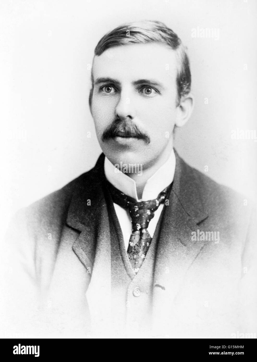 Ernest Rutherford (August 30, 1871 - October 19, 1937) was a New Zealand-born British chemist and physicist who Stock Photo