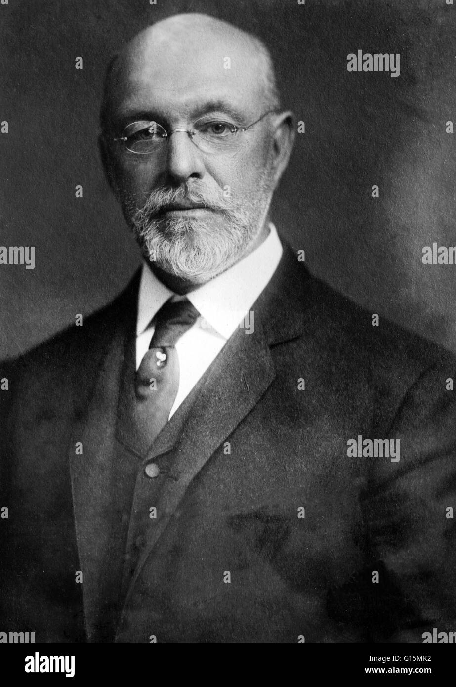 Ira Remsen (February 10, 1846 - March 4, 1927) was an American chemist. In 1875, after researching pure chemistry - Stock Image