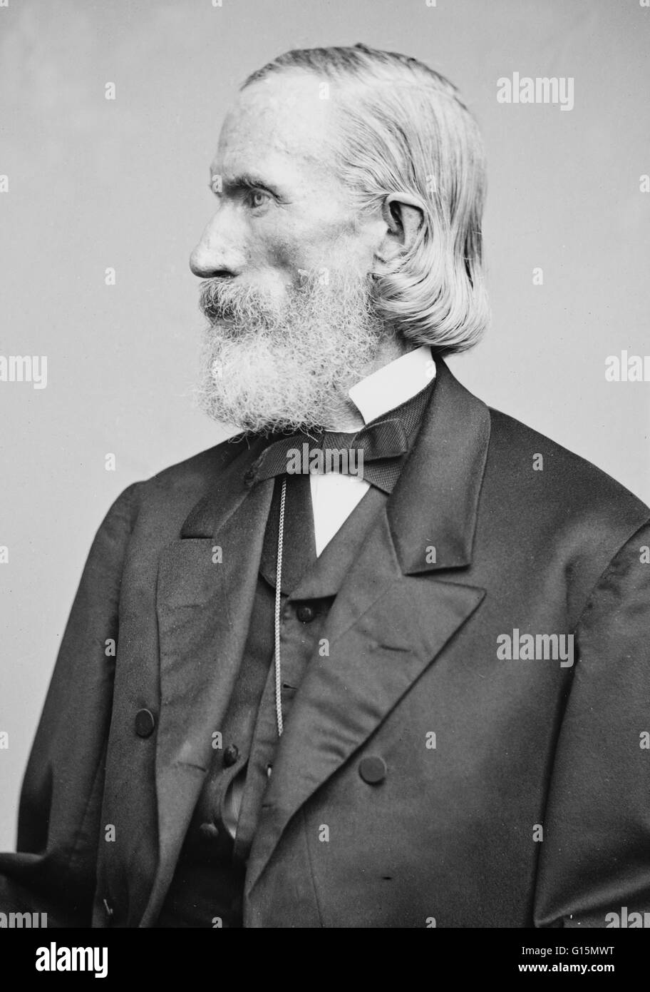 Orson Squire Fowler (October 11, 1809 - August 18, 1887) was a an American phrenologist. He opened a phrenological - Stock Image