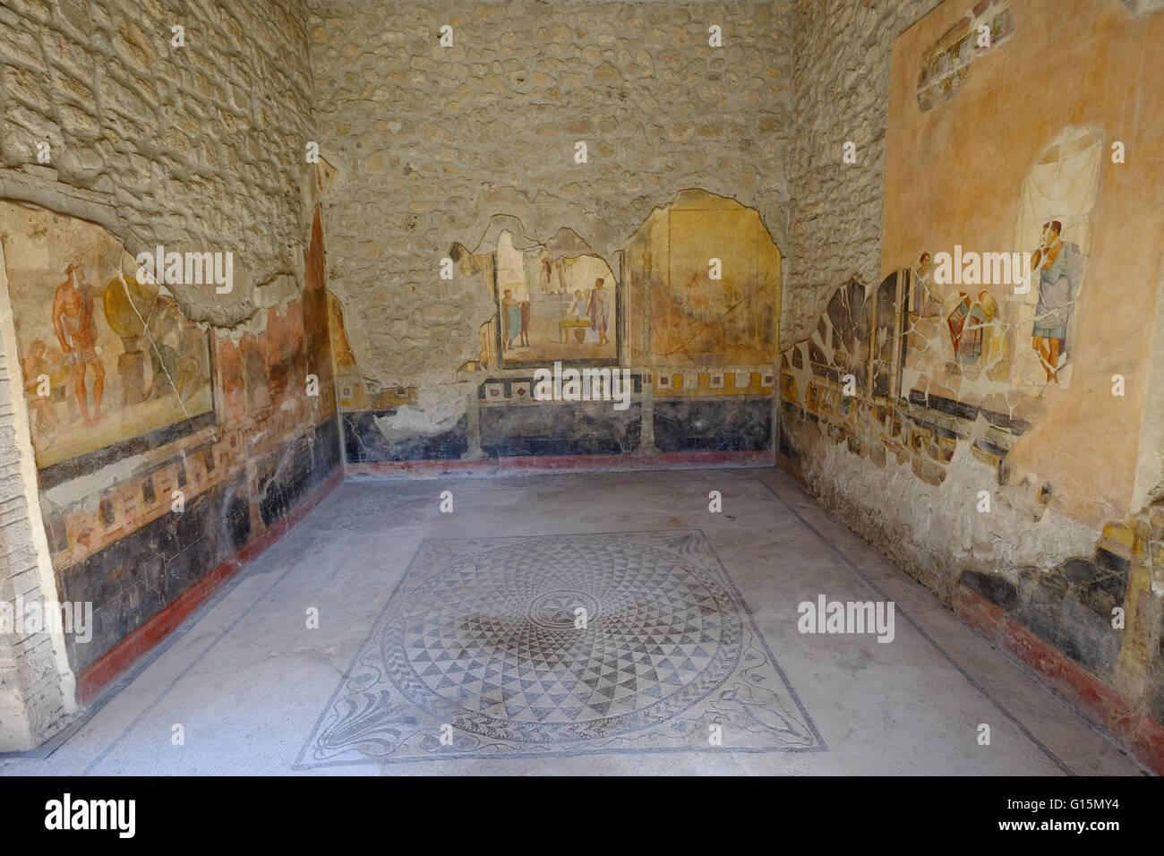 House of the Golden Cupids (Casa degli Amorini Dorati), Pompeii, UNESCO, the ancient Roman town near Naples, Campania Stock Photo