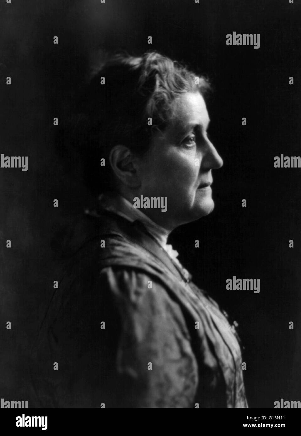 Jane Addams (September 6, 1860 - May 21, 1935) was a pioneer settlement worker, founder of Hull House in Chicago, Stock Photo