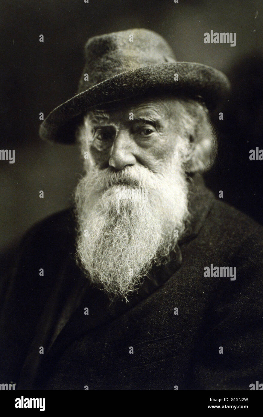 John Burroughs (April 3, 1837 - March 29, 1921) was an American naturalist, proponent of the American conservation - Stock Image