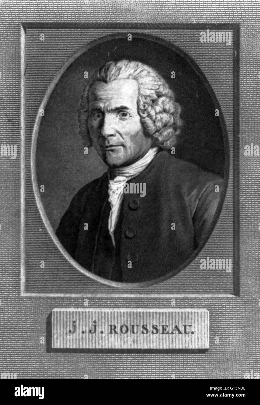 Jean-Jacques Rousseau (June 28, 1712 - July 2, 1778) was a Swiss philosopher, writer, and composer of 18th century - Stock Image