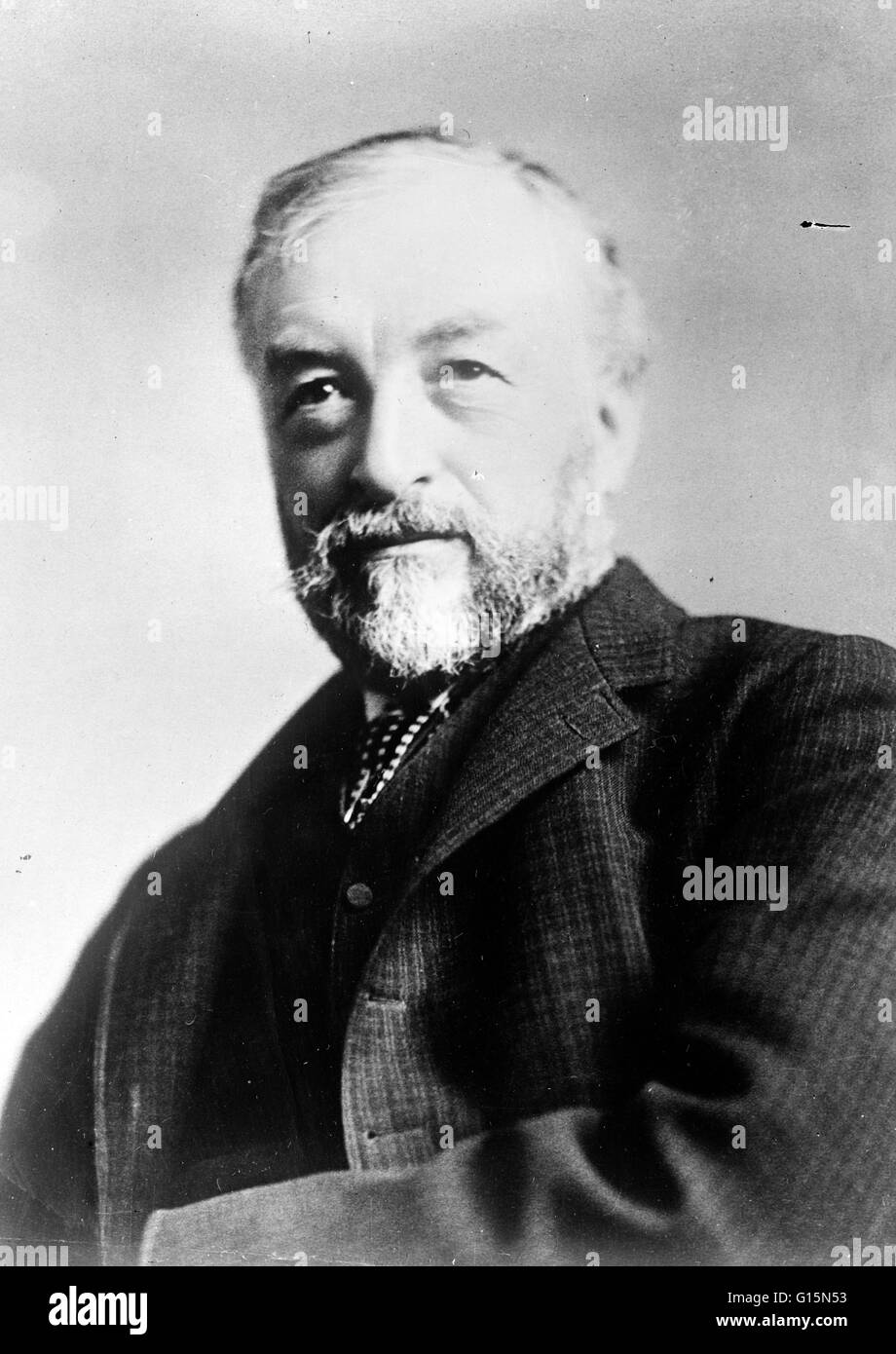 Samuel Pierpont Langley (August 22, 1834 - February 27, 1906) was an American astronomer, physicist, inventor of - Stock Image