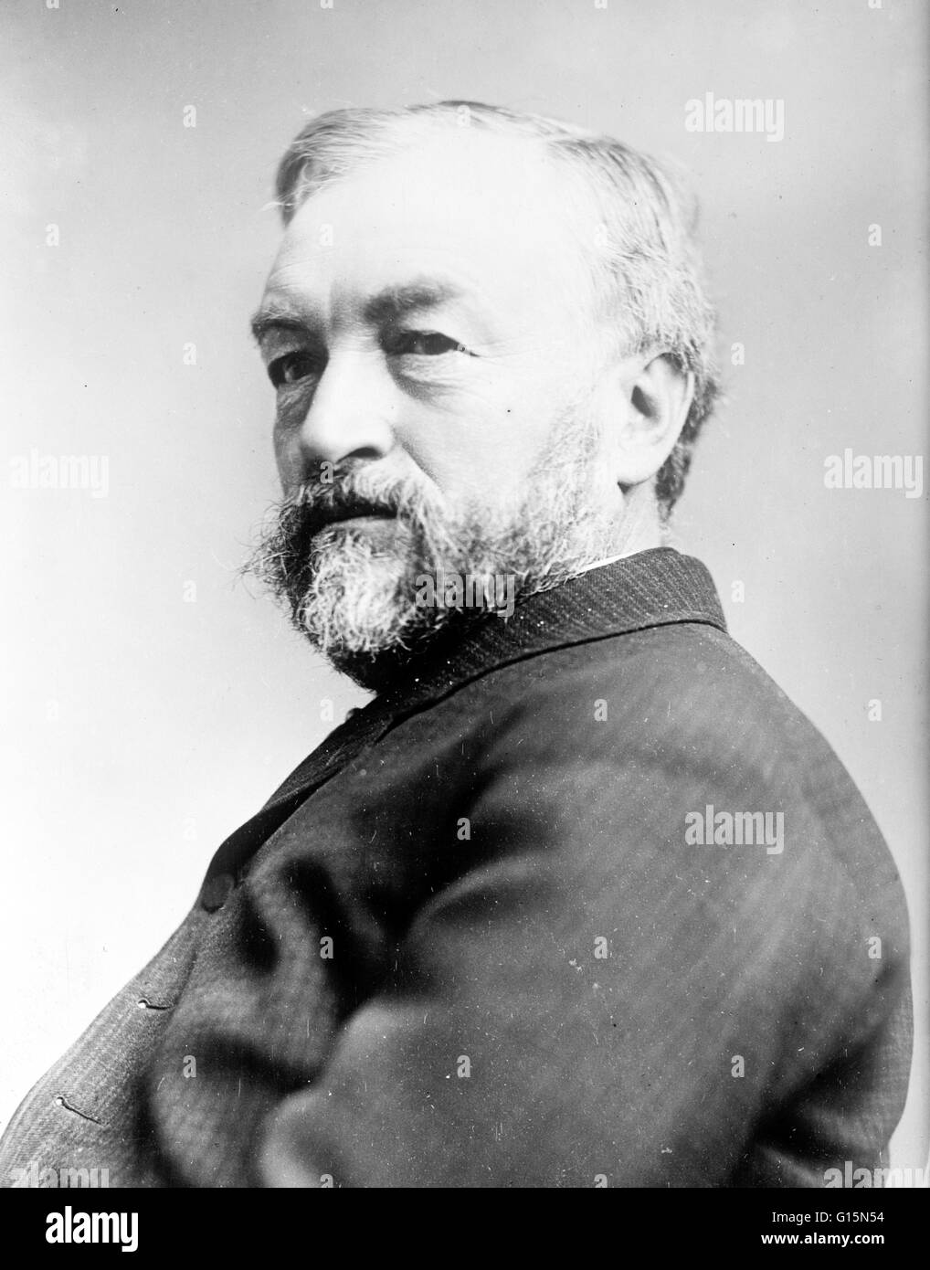 Langley photographed in 1913. Samuel Pierpont Langley (August 22, 1834 - February 27, 1906) was an American astronomer, - Stock Image
