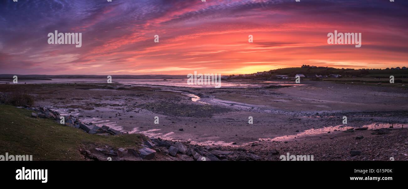 Northam Burrows Sunrise Stock Photo