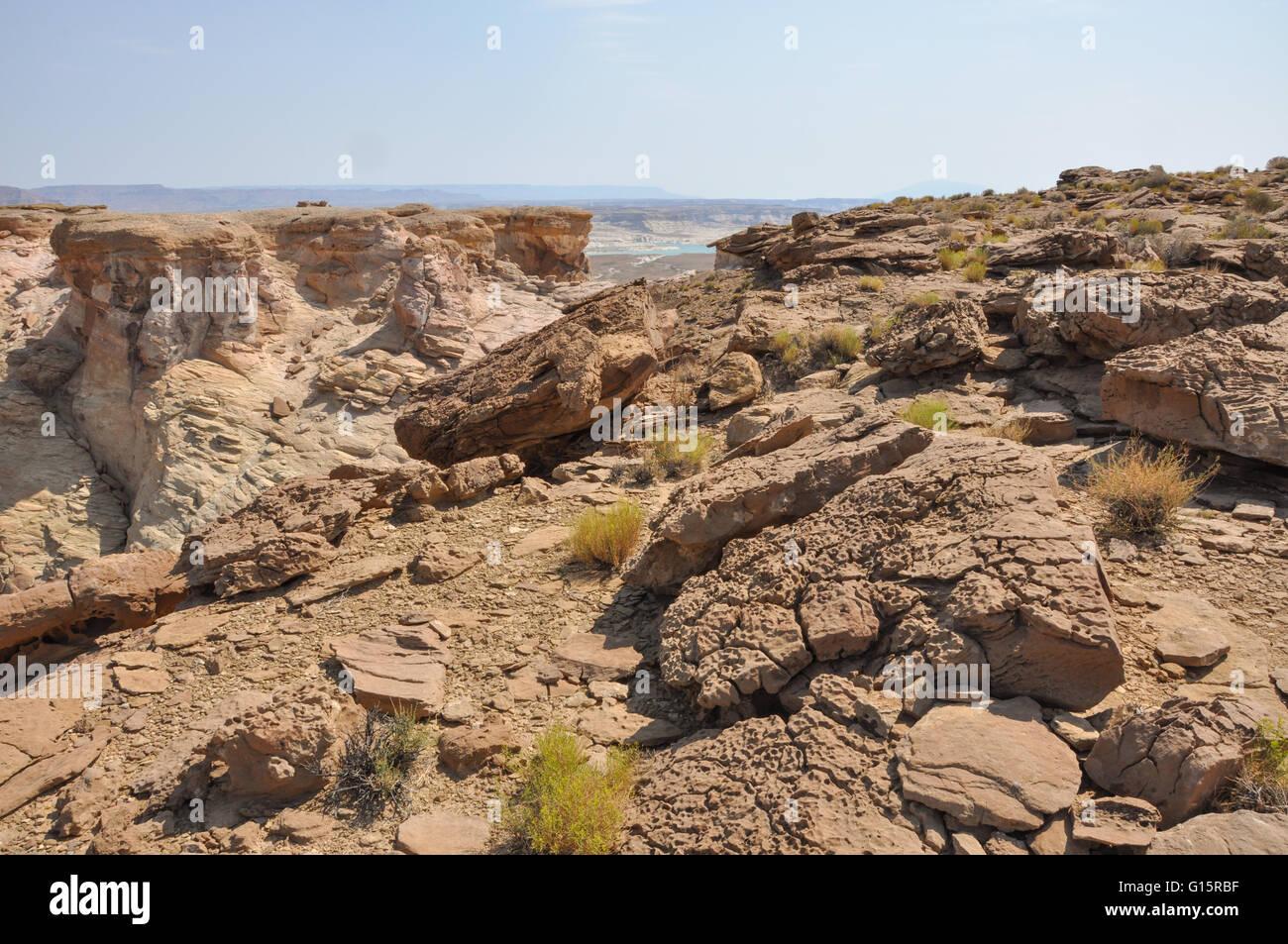 rocky Utah desert landscape with rocks - Stock Image