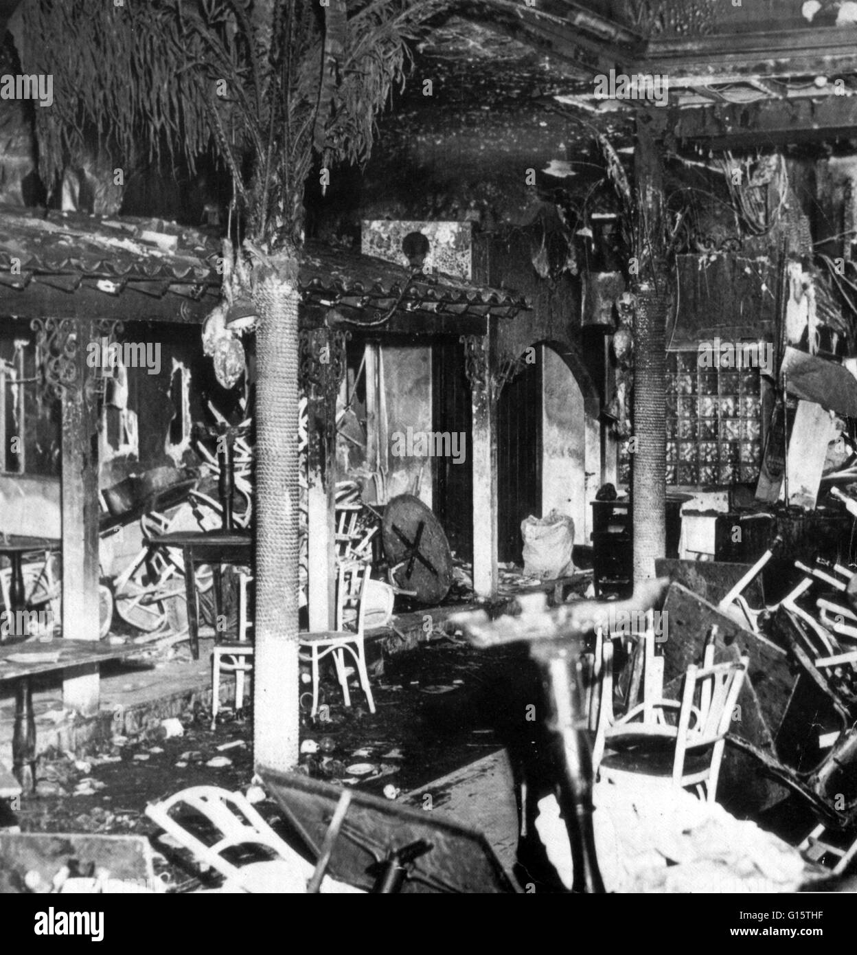 On November 28th 1942, a deadly fire occurred at the Cocoanut Grove Nightclub in Boston, Massachusetts, where 492 - Stock Image