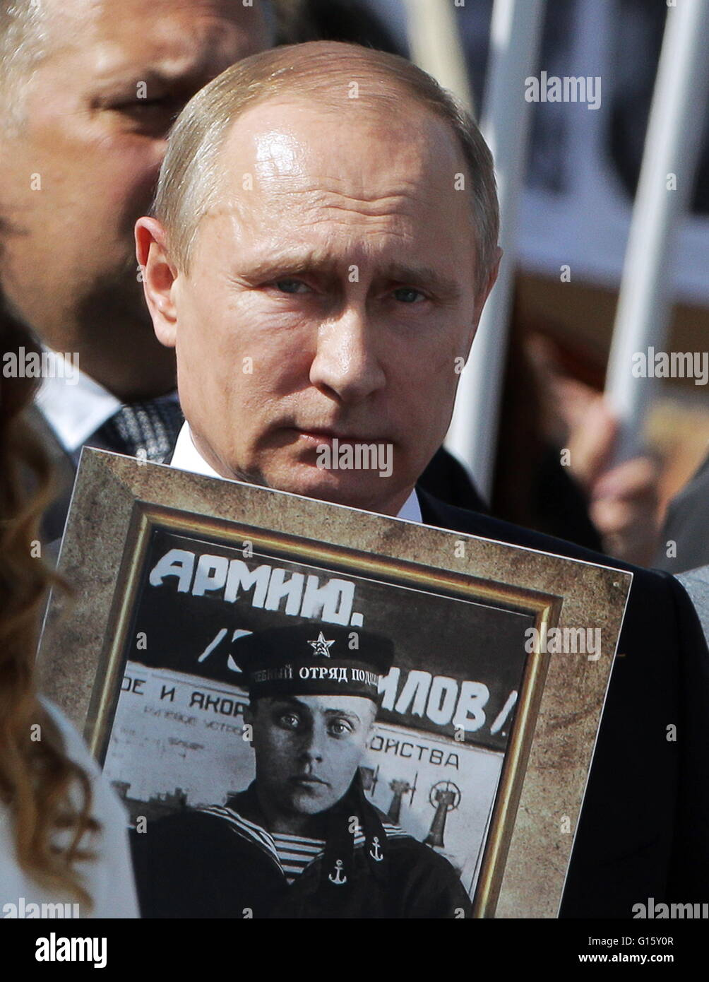 Moscow Russia 9th May 2016 Russia S President Vladimir Putin Stock Photo Alamy