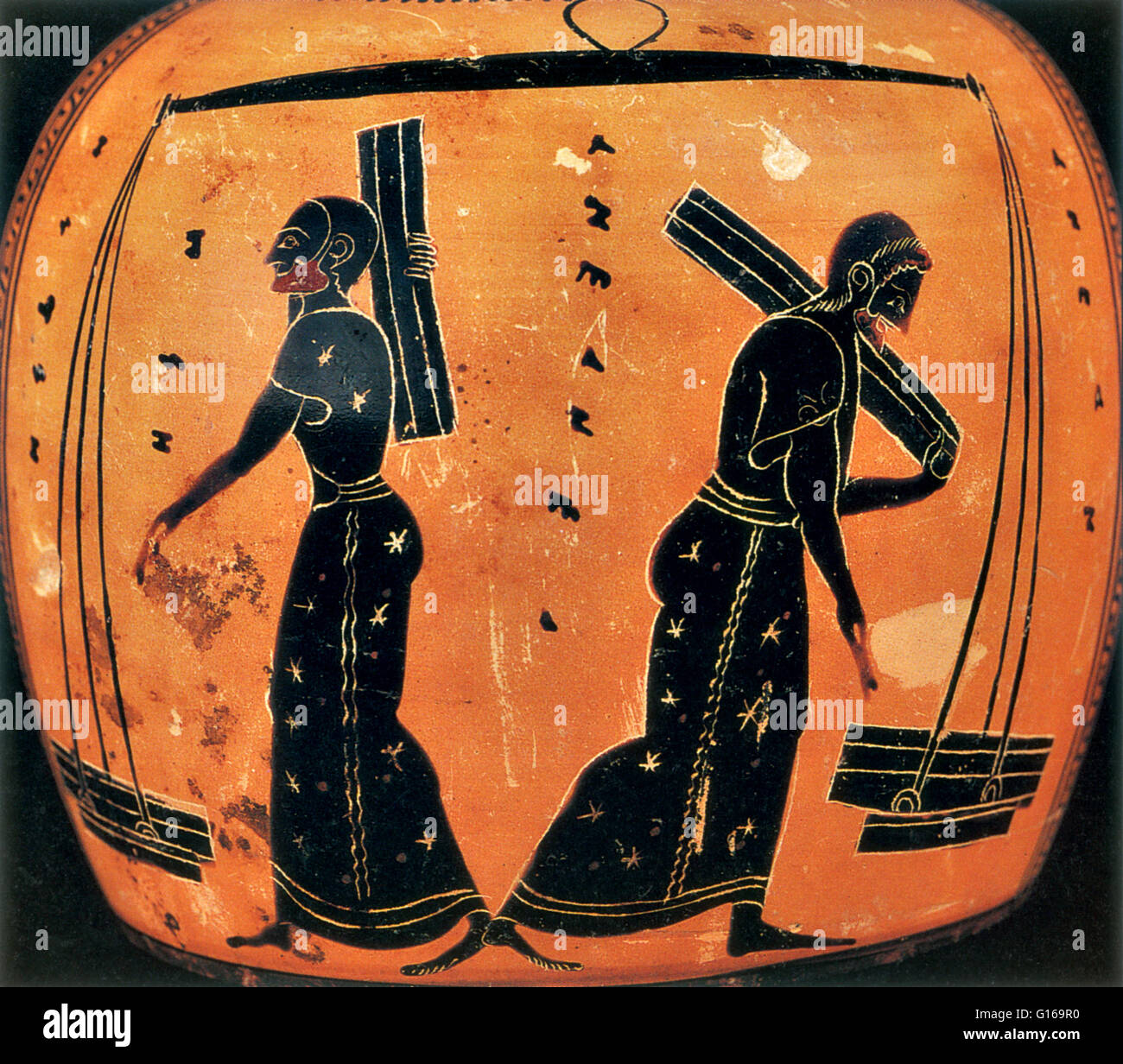 Weights and measures were among the earliest tools invented by man. Early Babylonian and Egyptian records, and the - Stock Image