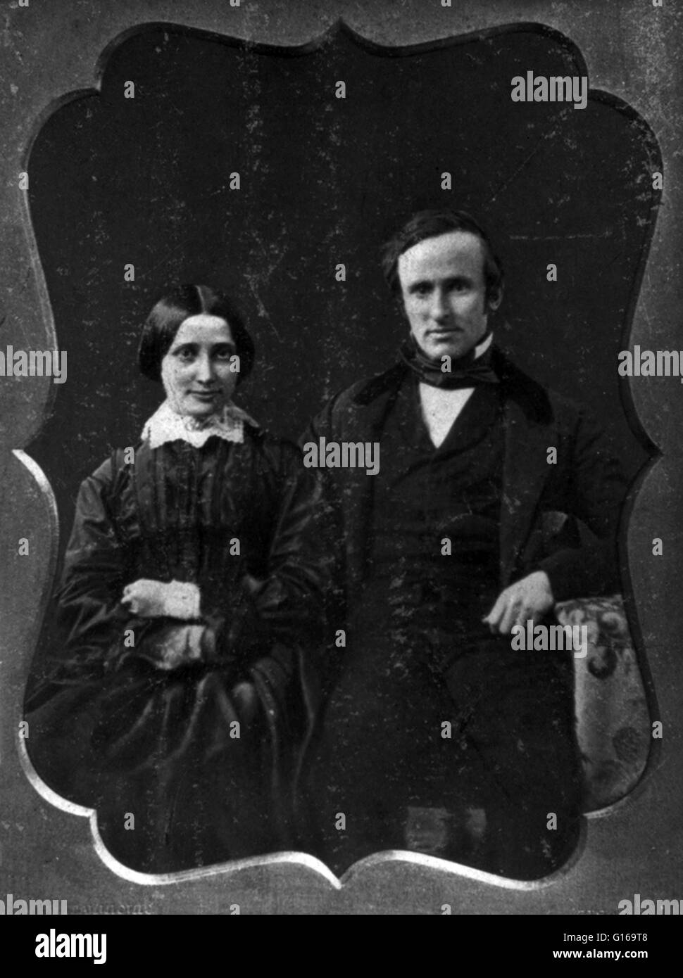 Rutherford B. and Lucy Hayes, On Their Wedding Day, 1852. Rutherford Birchard Hayes (October 4, 1822 - January 17, - Stock Image