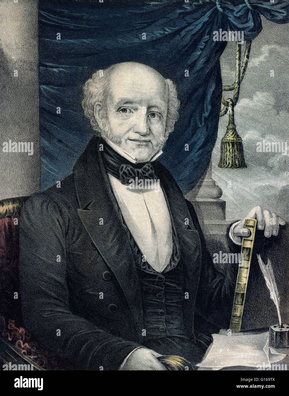 Martin Van Buren (December 5, 1782 - July 24, 1862) was the eighth President of the United States (1837-1841). Before his presidency, he was the eighth Vice President (1833-1837) and the tenth Secretary of State (1829-1831), both under Andrew Jackson. He Stock Photo