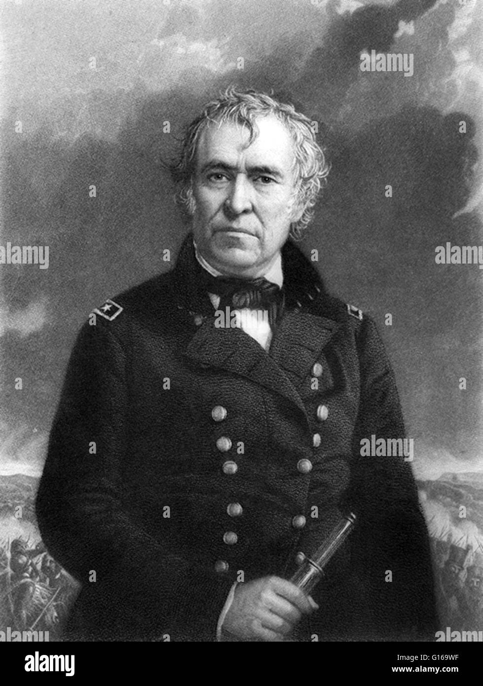 Zachary Taylor (November 24, 1784 - July 9, 1850) was the 12th President of the United States (1849-1850) and an Stock Photo