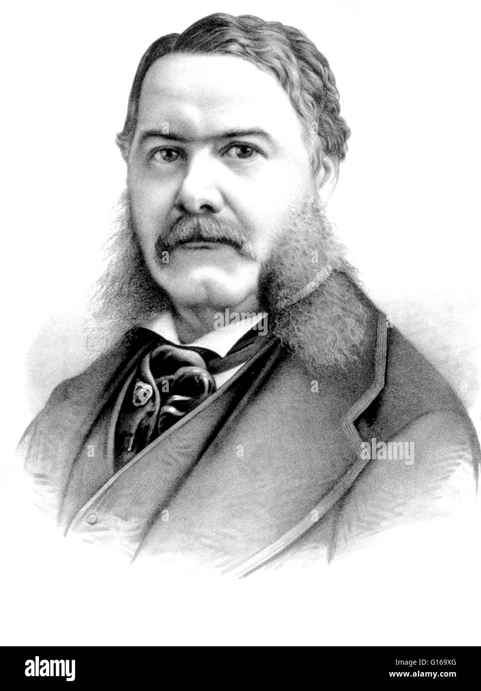 Chester Alan Arthur (October 5, 1829 - November 18, 1886) became the 21st President of the United States (1881-85) - Stock Image
