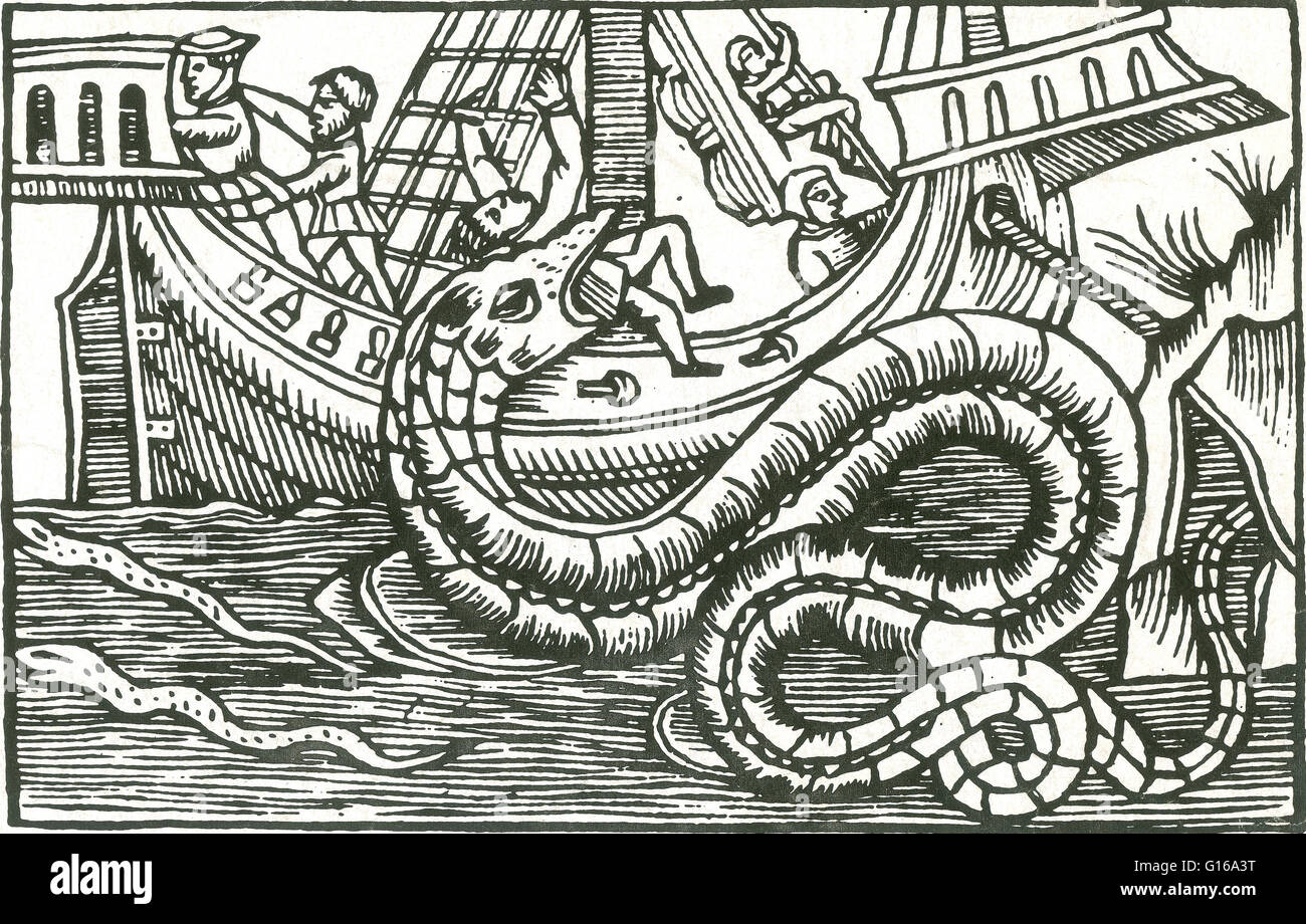 In Olaus Magnus' 1555 work History of the Northern Peoples, he describes a  Norwegian serpent so bold that it would come out from its underwater cave  on ...