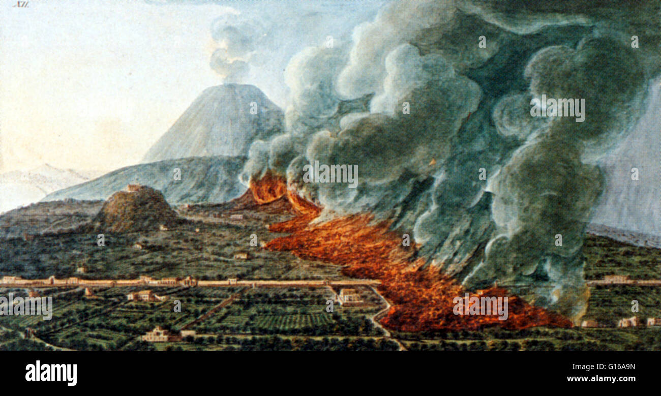 View Of An Eruption Mount Vesuvius Which Began On December 23 1760 And Ended January 5 1761 By Pietro Fabris Is A Stratovolcano In The