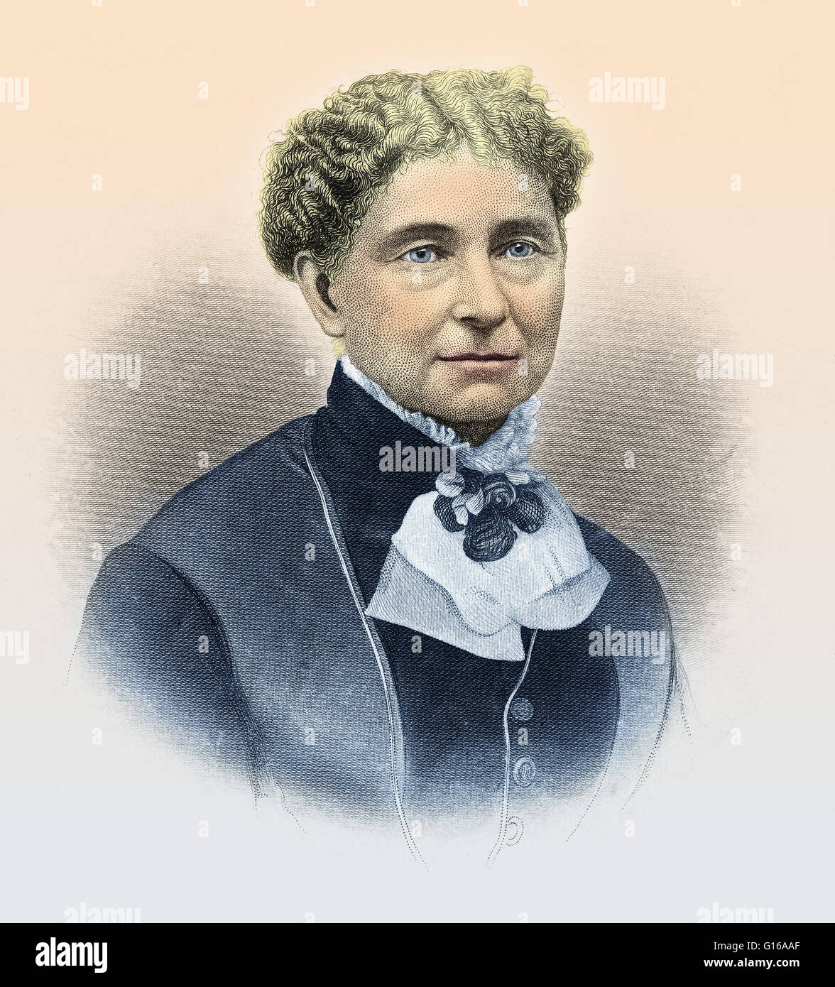 Amelia Jenks Bloomer (May 27, 1818 - December 30, 1894) was an American women's rights and temperance advocate. - Stock Image