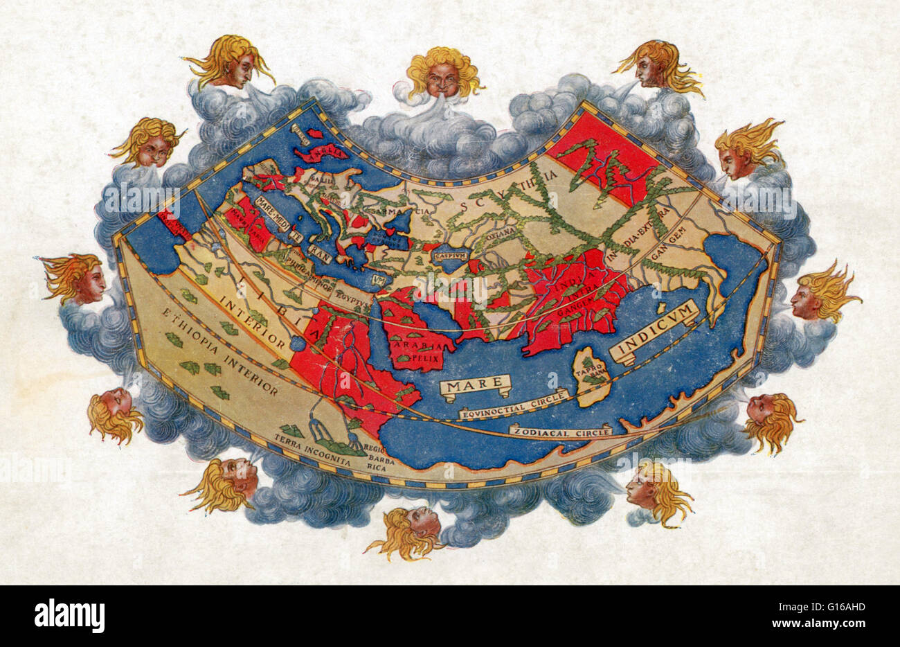 The Ptolemy World Map Is A Map Of The Known World To Hellenistic - Authentic world map