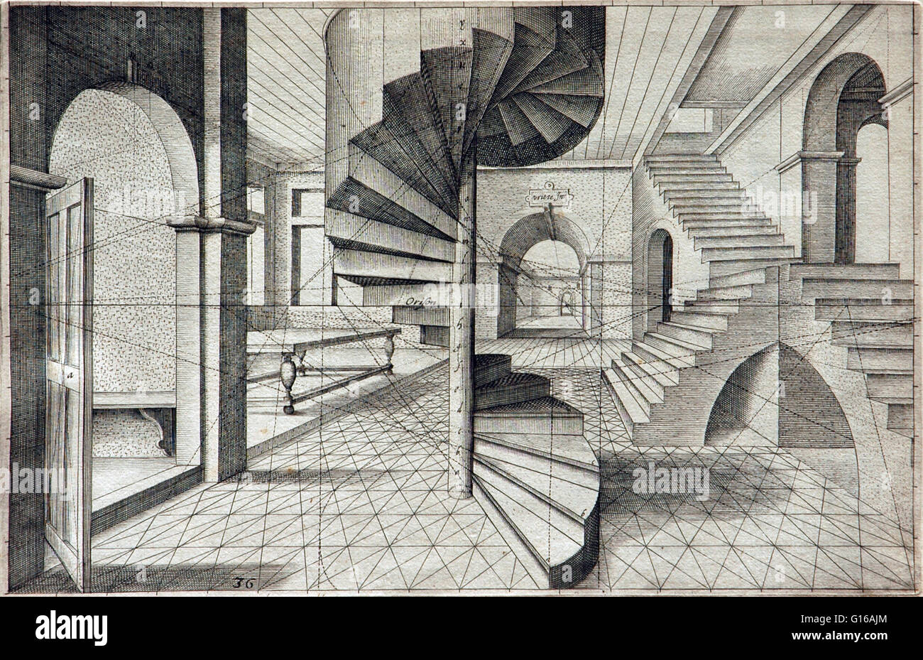 Hans Vredeman de Vries (1527-1607) was a Dutch Renaissance architect, painter, and engineer. He is known for his - Stock Image