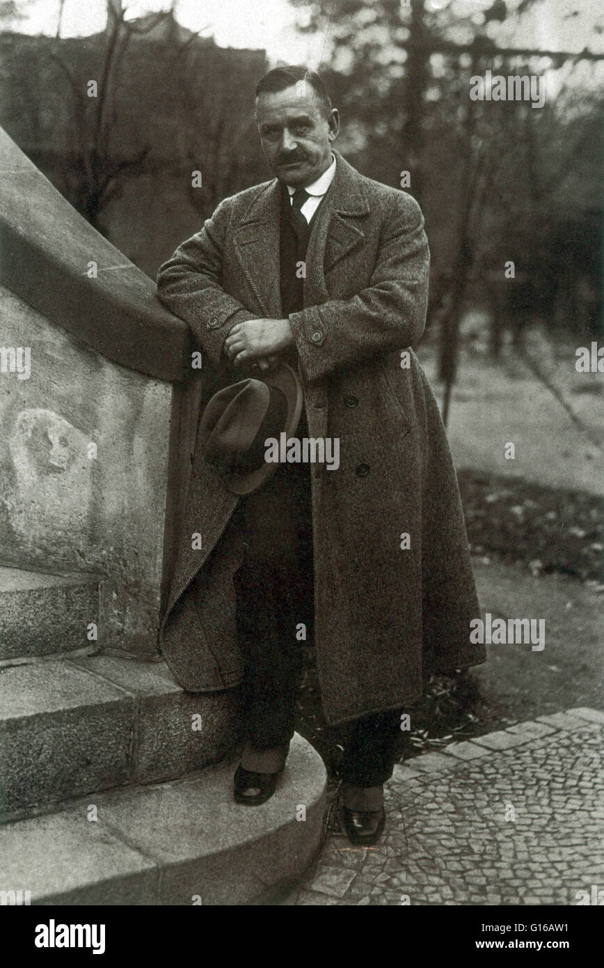 Thomas Mann (June 6, 1875 - August 12, 1955) was a German novelist, short story writer, social critic, philanthropist, - Stock Image