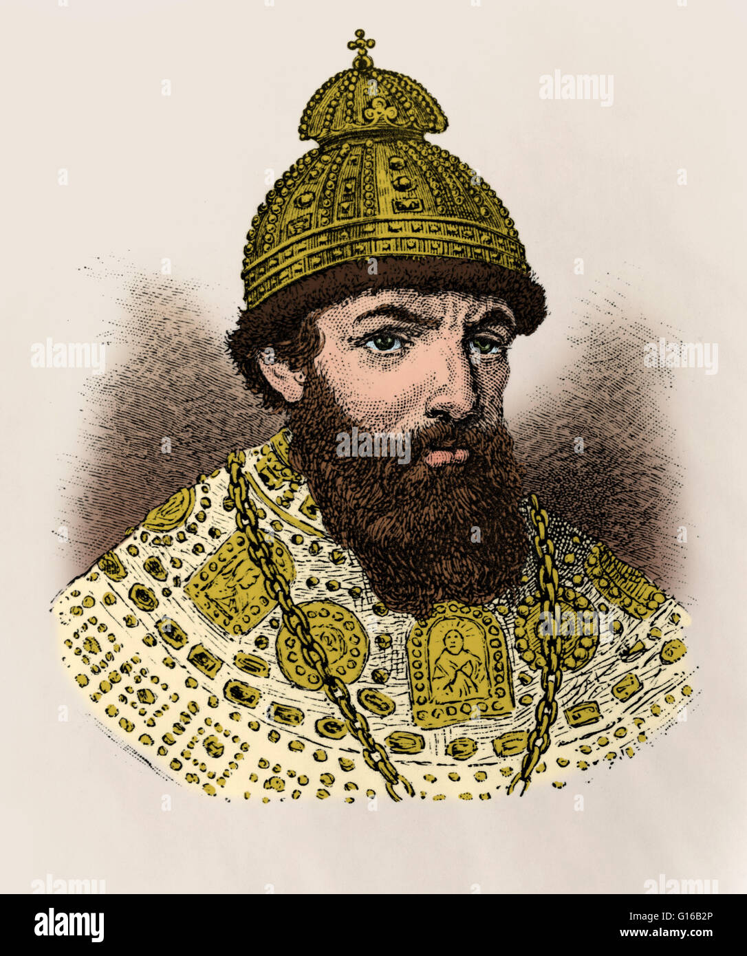 Ivan IV, Czar of Russia. Ivan IV Vasilyevich (August 25, 1530 - March 28, 1584) was Grand Prince of Moscow from - Stock Image