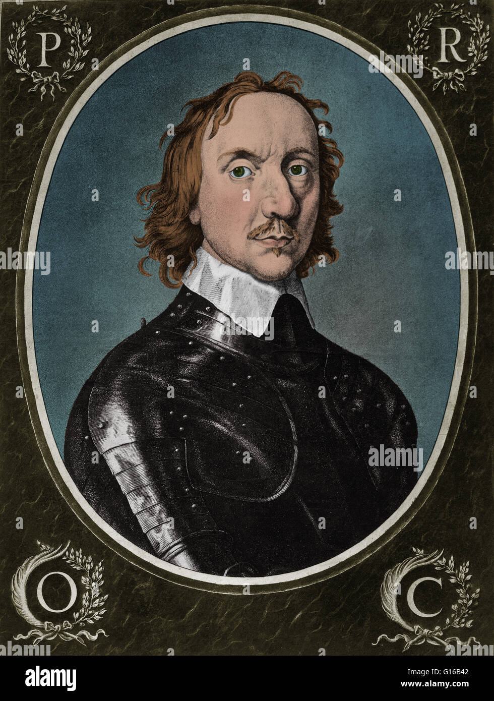Oliver Cromwell (1599-1658), English political leader and military commander, who was instrumental in the English - Stock Image