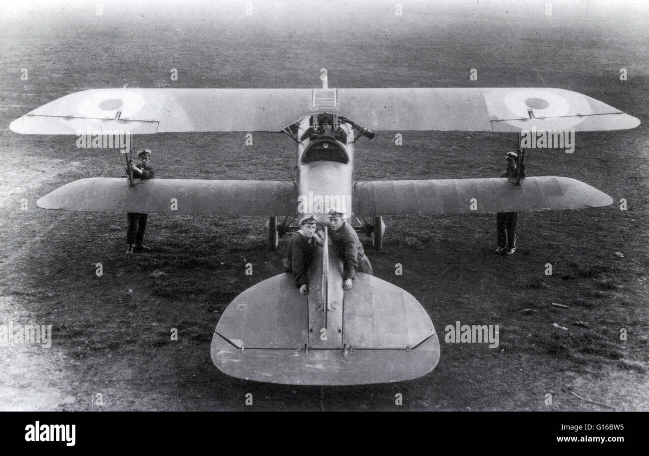 The Albatros D.III was a biplane fighter aircraft used by the Imperial German Army Air Service (Luftstreitkräfte) Stock Photo
