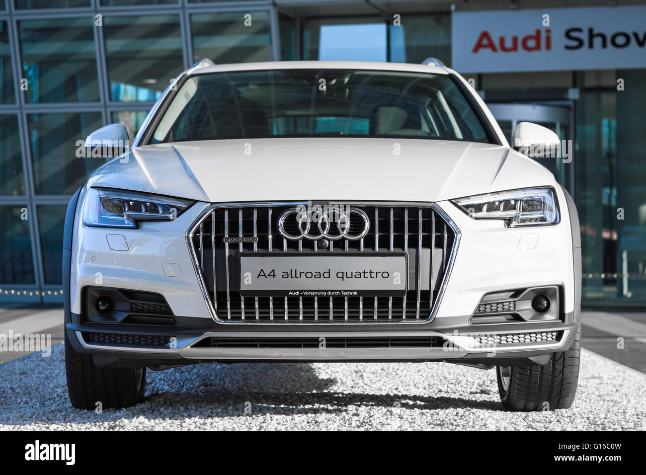 Audi A4 Allroad Quattro Is New Modern SUV Car Model With Four Wheel Drive  System And Powerful Diesel Engine.