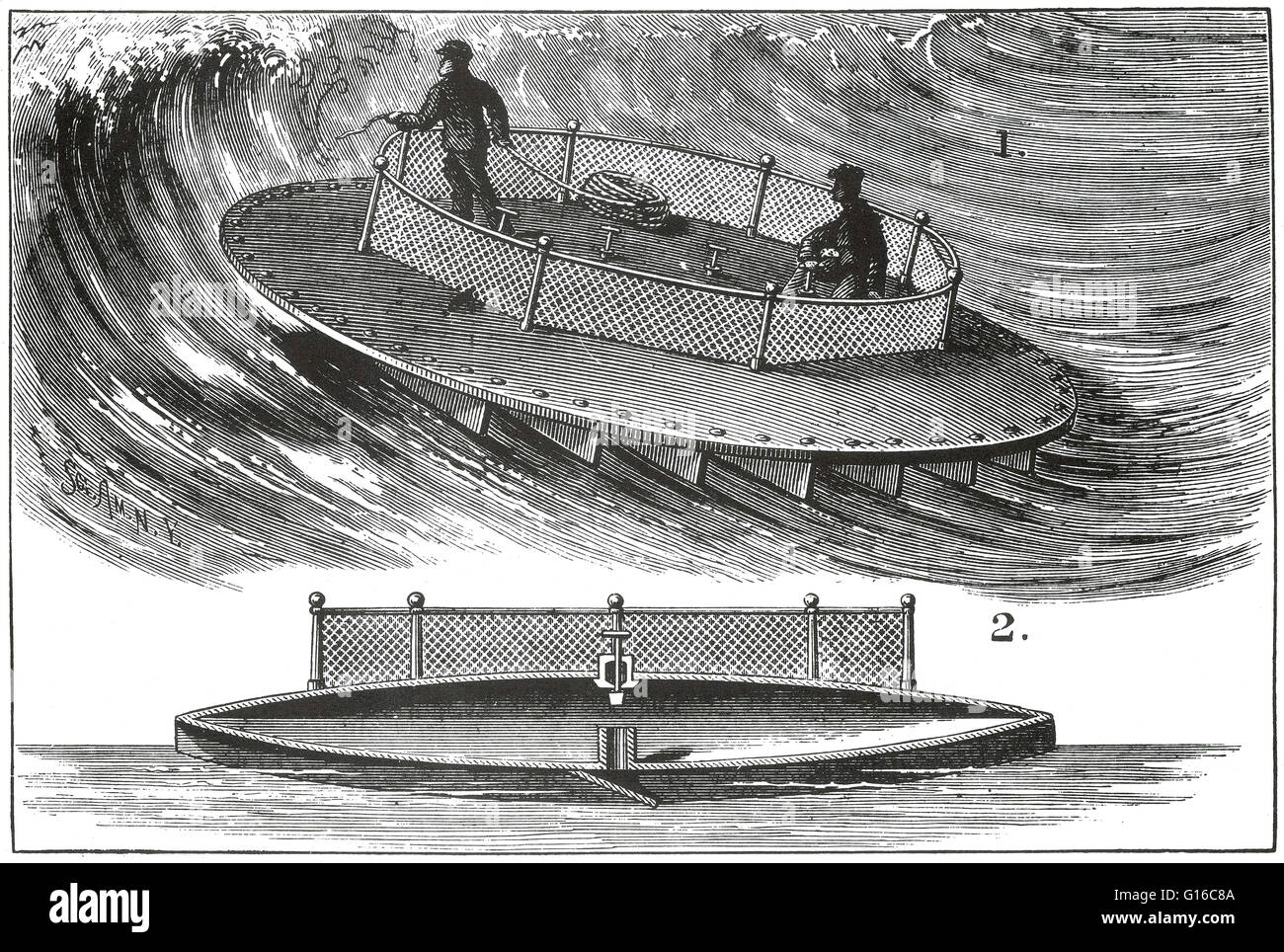 Tucker's Surf Boat, 1879, No. 215.843. Patented May 27, 1879. 'Be it known that I, Richard H. Tucker of - Stock Image
