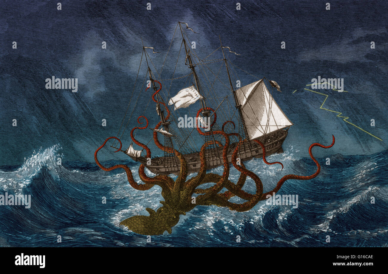 Kraken Attack Painting