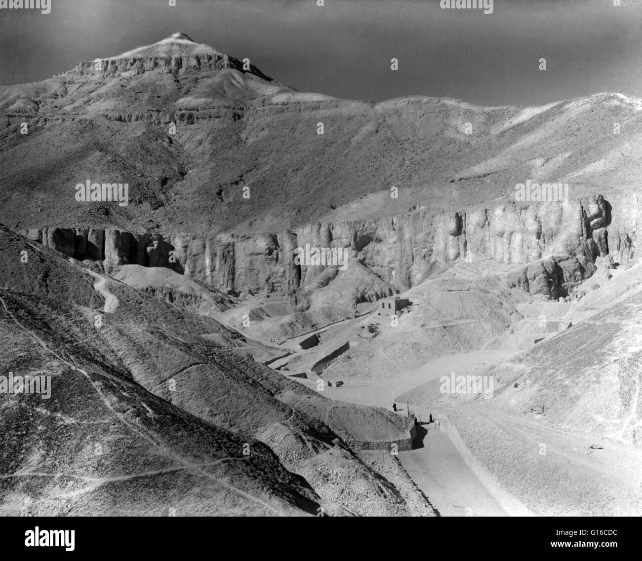 Thebes, to southern border of Egypt. Valley of the Tombs of the Kings, photographed by Mason Photo Service, 1936. - Stock Image