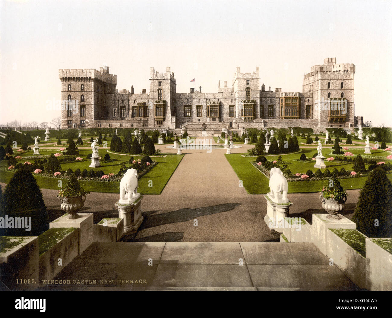 Windsor, East Terrace, England. Windsor Castle is a royal residence at Windsor in the English county of Berkshire. - Stock Image