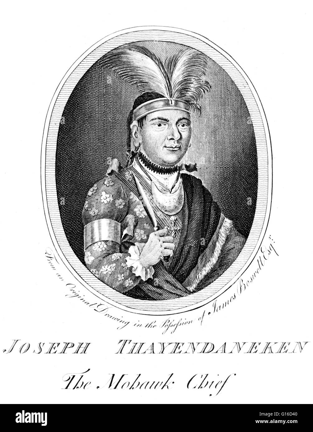 Thayendanegea or Joseph Brant (March 1743 - November 24, 1807) was a Mohawk military and political leader, who was Stock Photo