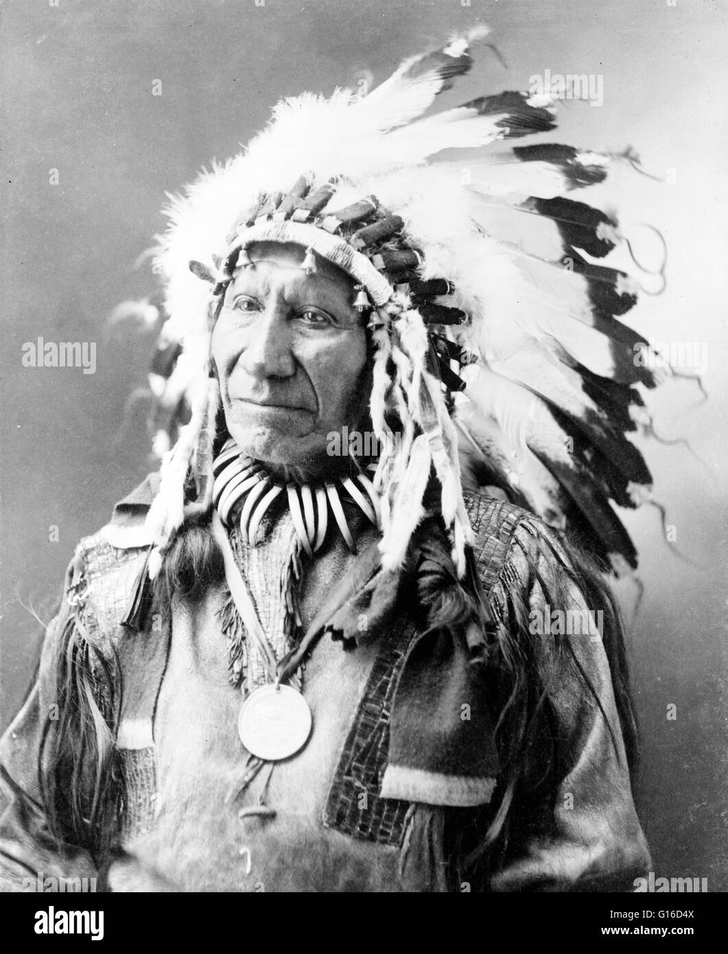 Chief American Horse photographed by John A. Anderson, 1900. American Horse (1840 - December 16, 1908) was an Oglala - Stock Image