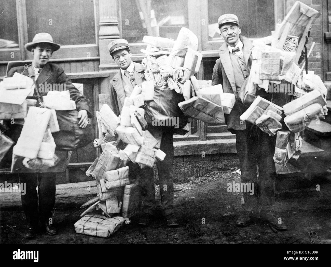 It was both the Penny Post postal service in 1840 and the industrialization of the printing industry that led to - Stock Image