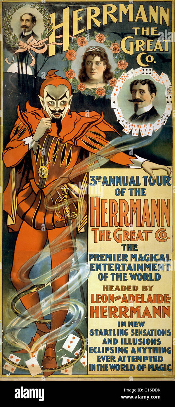 Entitled: 'Herrmann the Great Co. 3rd annual tour of the Herrmann the Great Co.: the premier magical entertainment - Stock Image