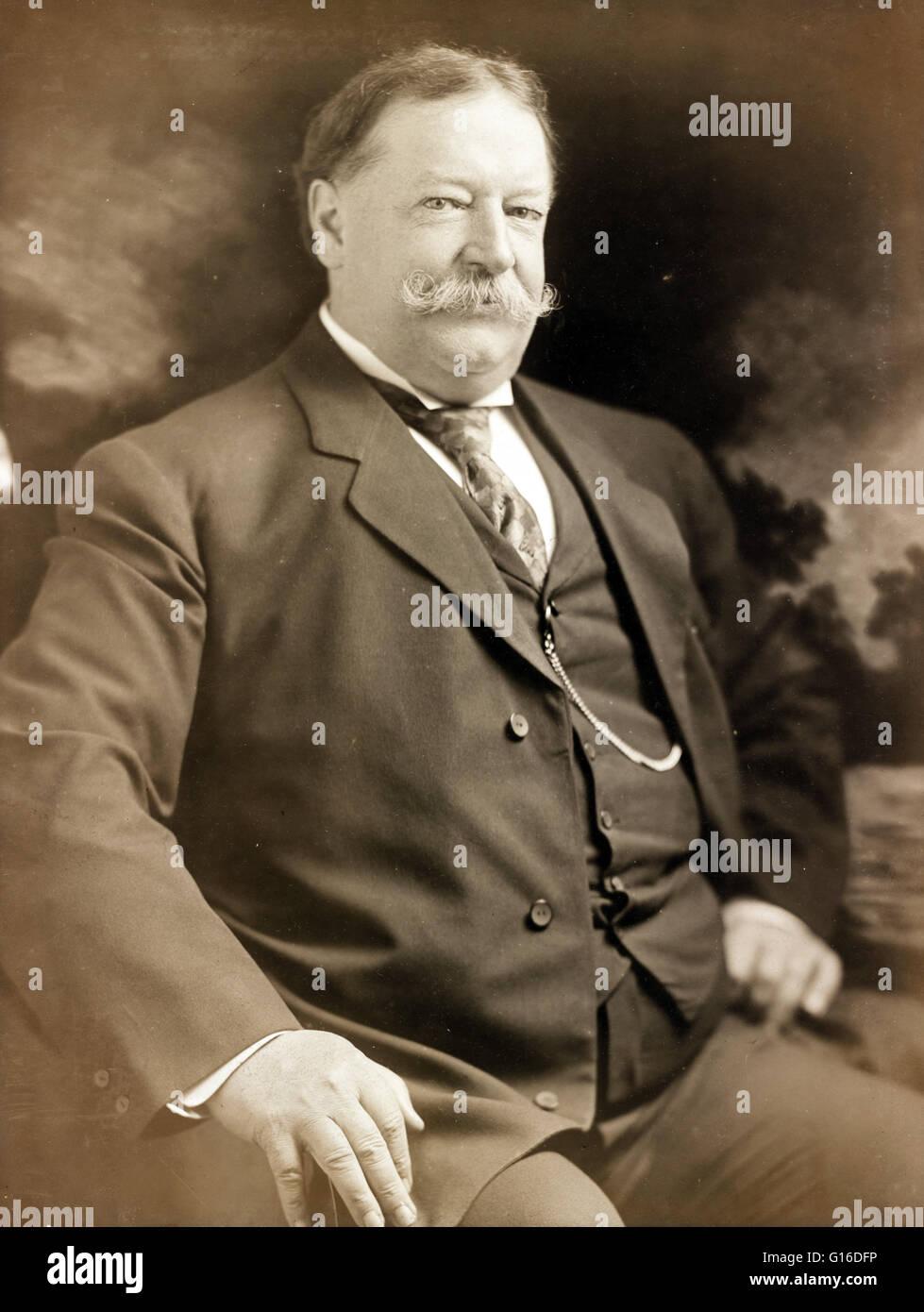 Secretary of War Taft photographed June 8, 1907 by Julius Caesar Strauss. William Howard Taft (September 15, 1857 - Stock Image