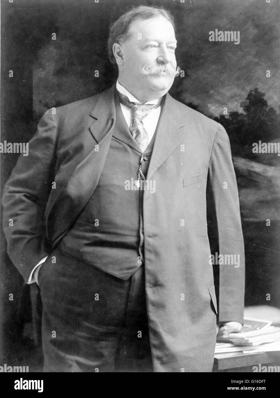 Secretary of War Taft photographed in 1907. William Howard Taft (September 15, 1857 - March 8, 1930) was the 27th - Stock Image