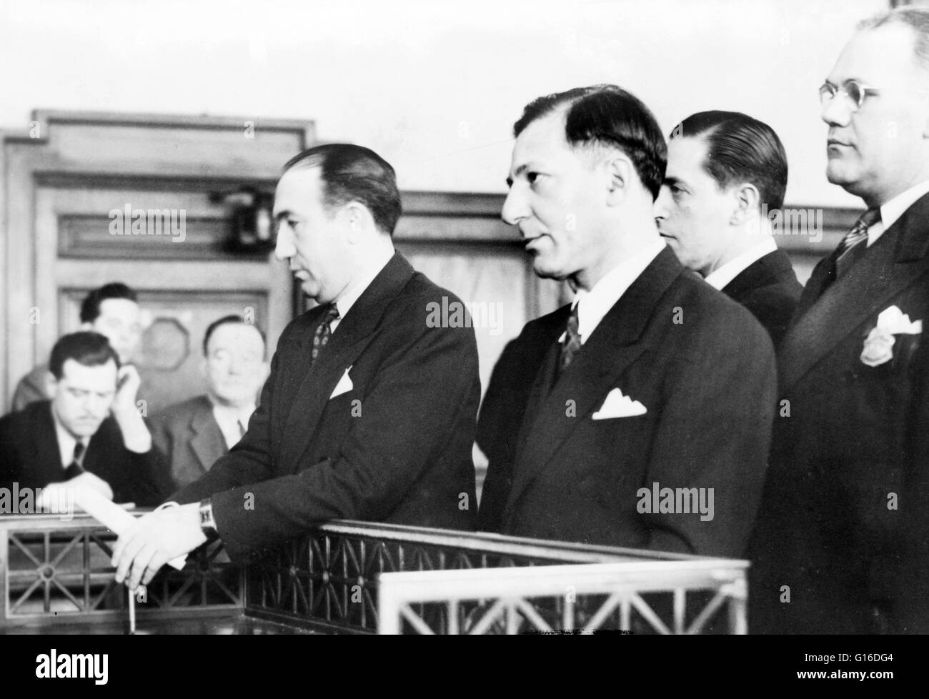 Buchalter, standing in court during sentencing, 1941. Louis Buchalter (February 6, 1897 - March 4, 1944) was an - Stock Image