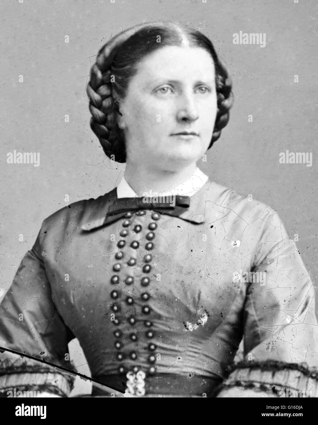Harriet Rebecca Lane Johnston (May 9, 1830 - July 3, 1903) acted as First Lady of the United States during the presidency Stock Photo