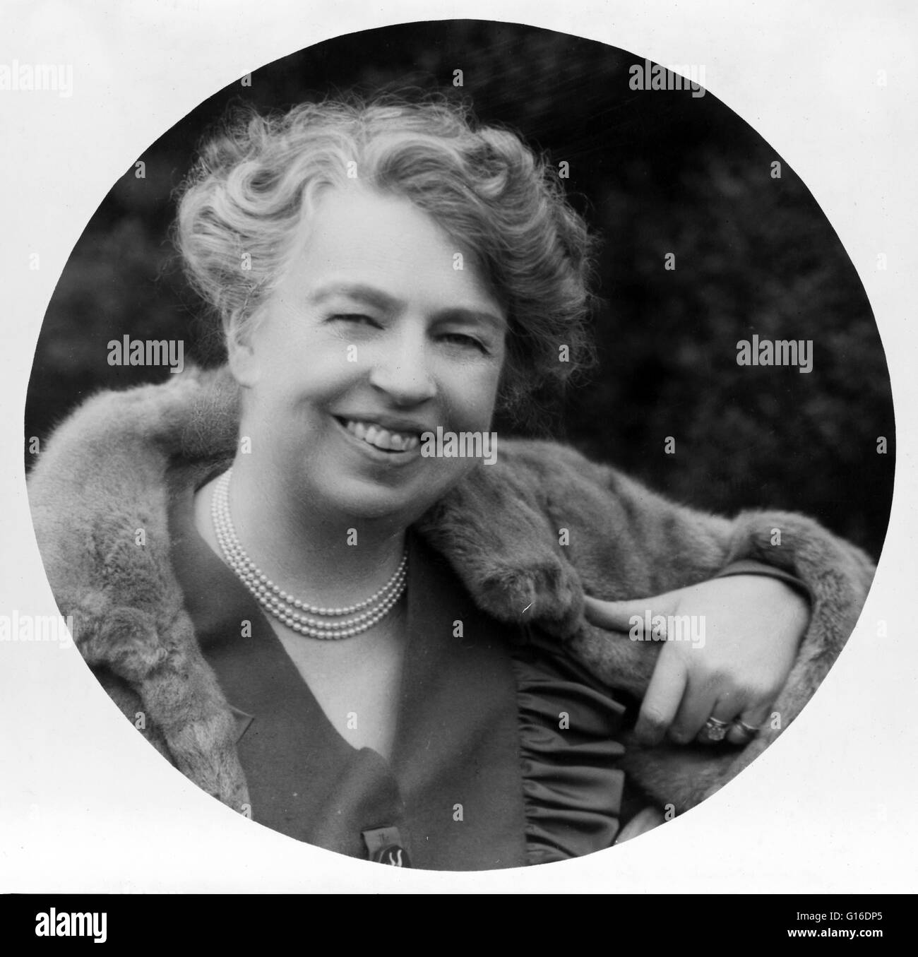Anna Eleanor Roosevelt (October 11, 1884 - November 7, 1962) was an American politician. She was the longest serving - Stock Image