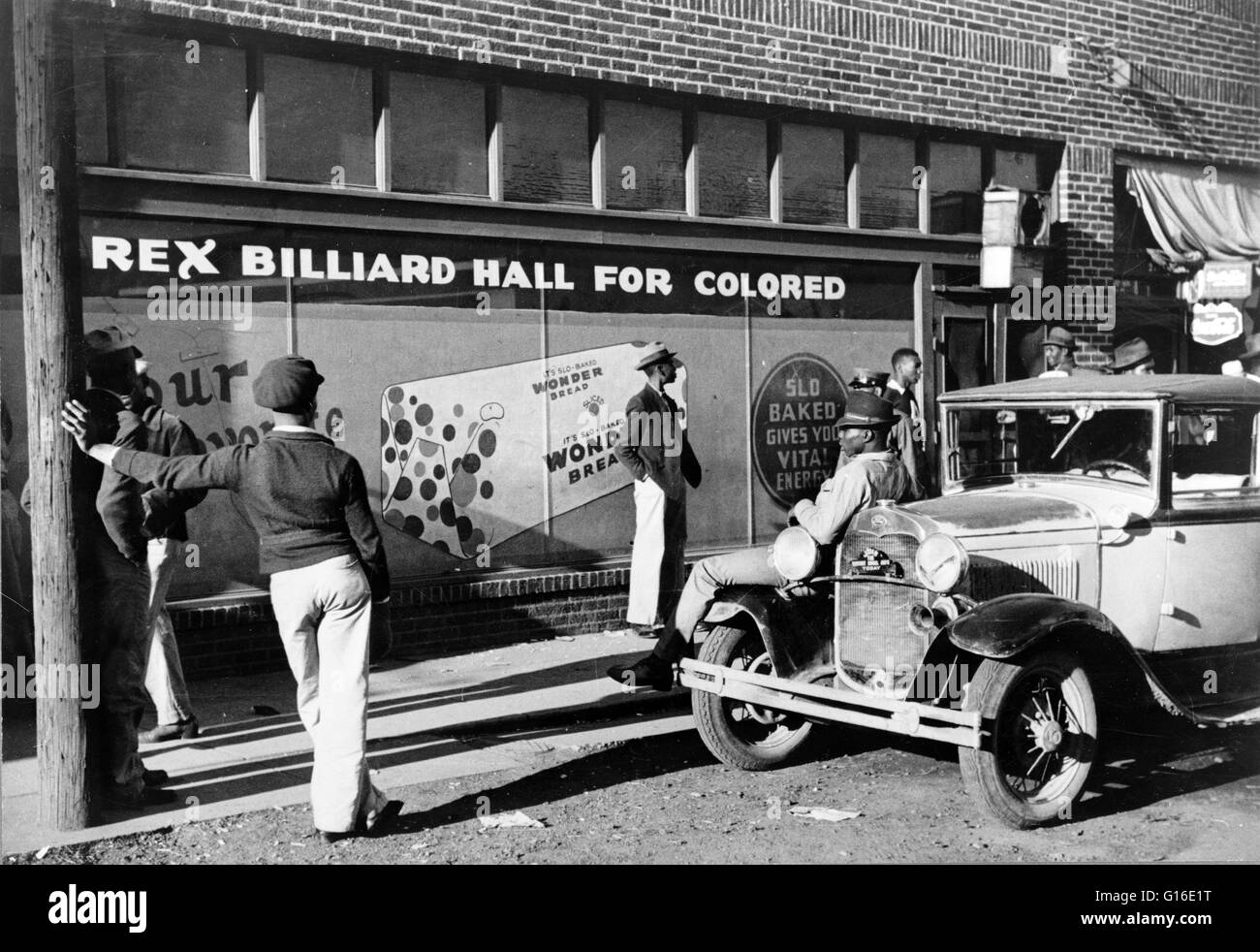 Entitled: 'Beale Street, Memphis, Tennessee.' Segregation is separation of humans into racial groups in - Stock Image