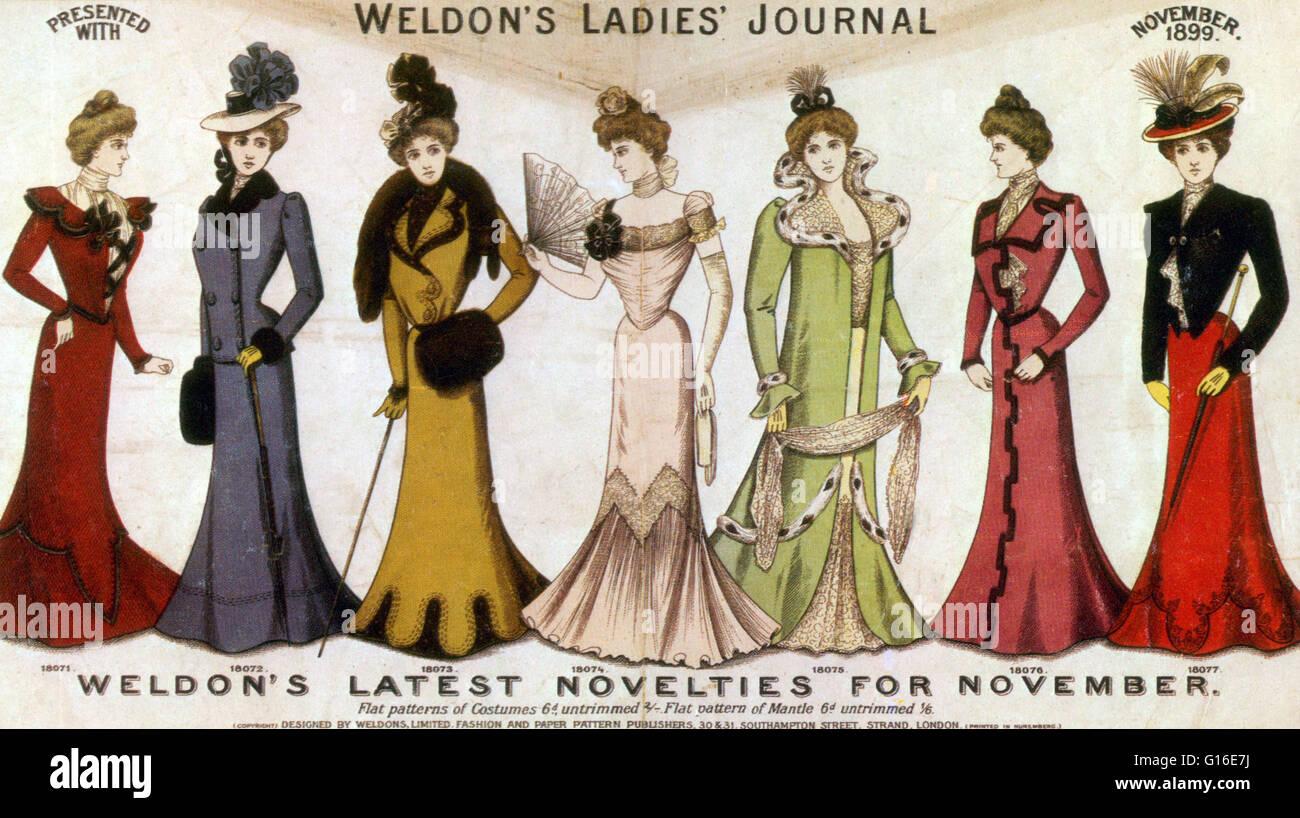 Walter Weldon Founded Weldon S Fashion Journal Weldon S Patterns Stock Photo Alamy