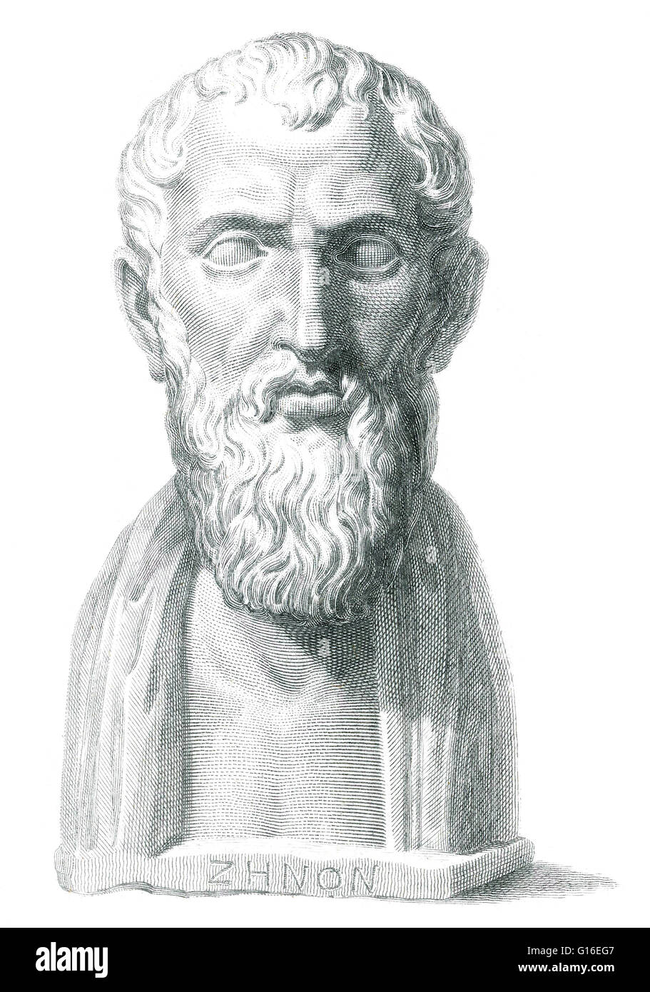 Zeno of Citium (334 - 262 BC) was an Ancient Greek philosopher. He was the founder of the Stoic school of philosophy, - Stock Image
