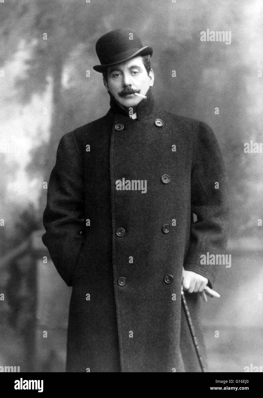 Giacomo Antonio Domenico Michele Secondo Maria Puccini (December 22, 1858 - November 29, 1924) was an Italian composer - Stock Image
