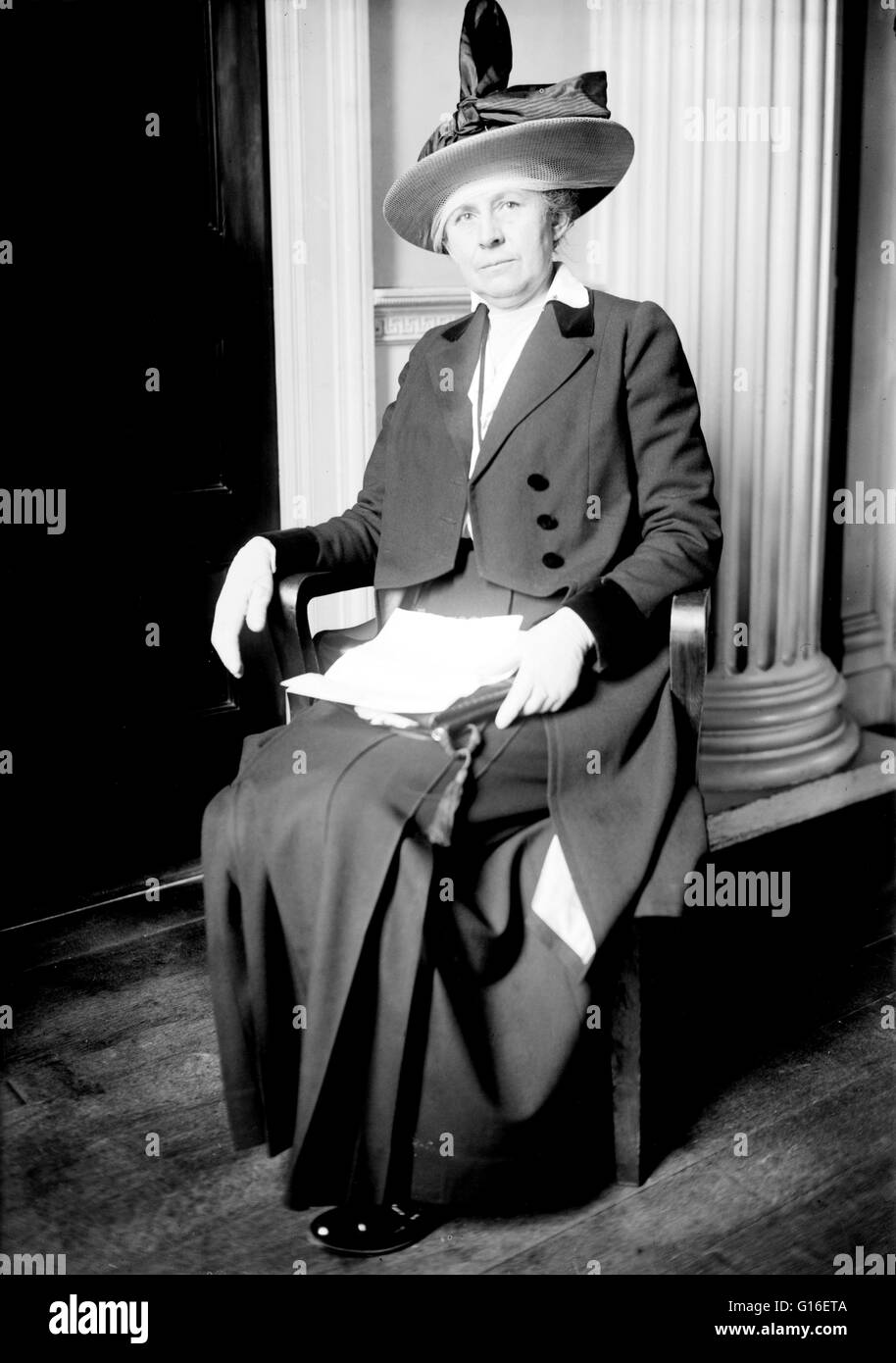 Ida Minerva Tarbell (November 5, 1857 - January 6, 1944) was an American teacher, author and journalist. She was - Stock Photo