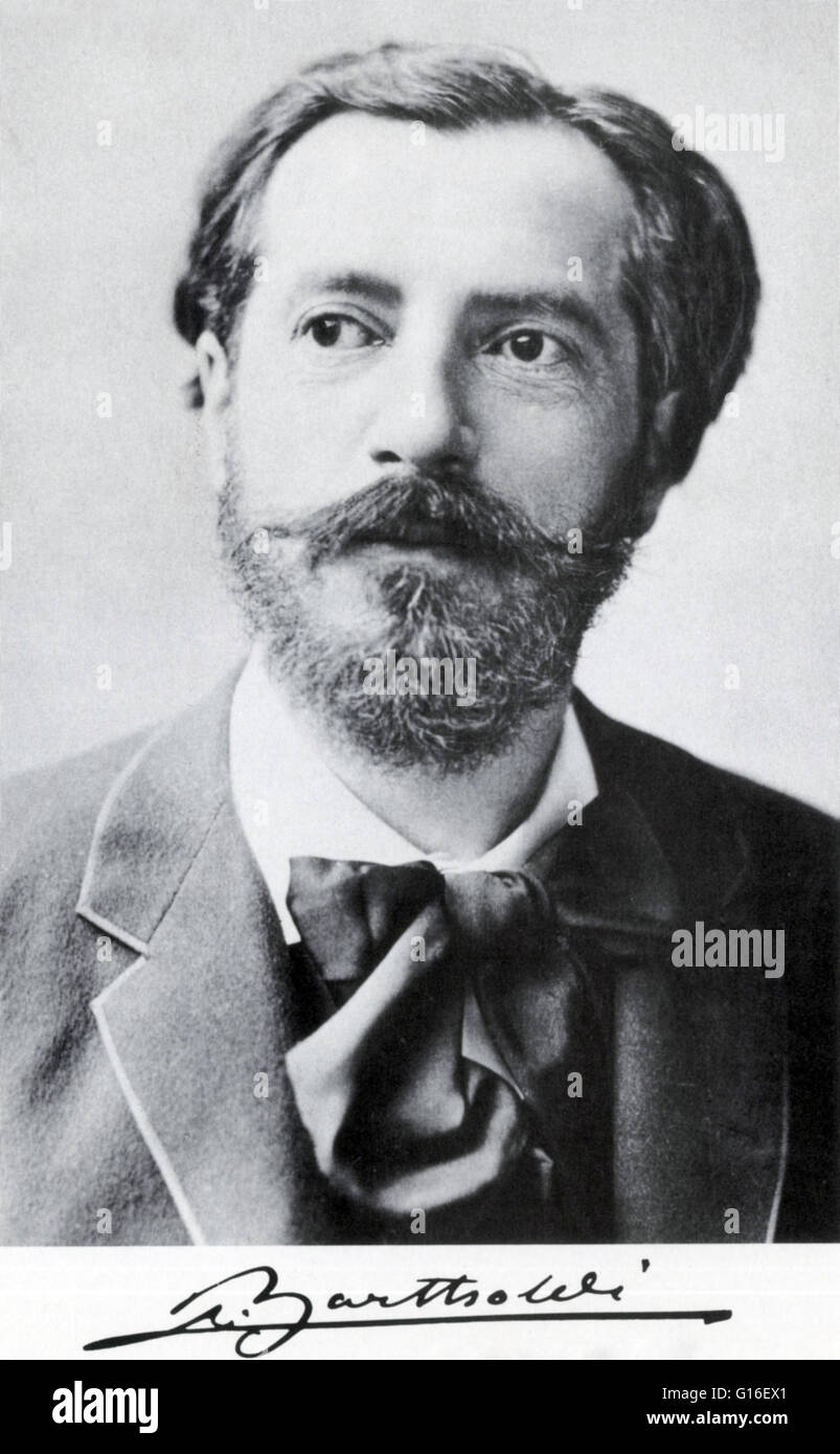 Frédéric Auguste Bartholdi (August 2, 1834 - October 4, 1904) was a French sculptor. He attended the Lycee - Stock Image