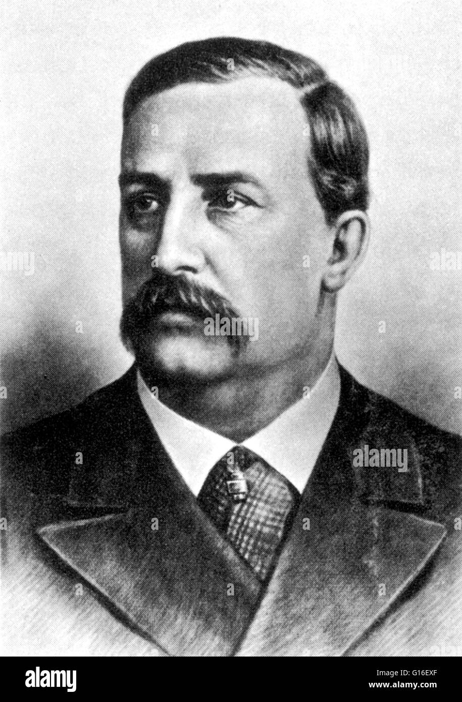 Alexander Porfiryevich Borodin (November 12, 1833 - February 27, 1887) was a Russian Romantic composer, doctor and - Stock Image